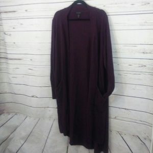 H by Halston long cardigan with pockets